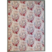 "Aubusson Hand-Woven Ivory New Zealand Wool Rug (8'11"" X 12' 0"")"