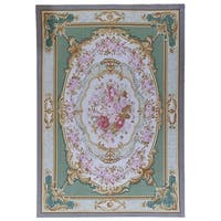 "Pasargad Multi Aubusson Hand-Woven Wool Area Rug (10' 0"" X 14' 4"")"