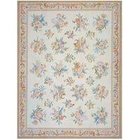 """Pasargad Aubusson Ivory Hand-Woven New Area Rug (10' 0"""" X 14' 0"""")"""