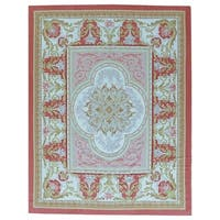 "Pasargad Aubusson Hand-Woven New Zealand Wool Rug (9'10"" X 14' 0"")"