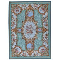 """Pasargad Aubusson Hand-Woven New Zealand Wool Rug (8' 9"""" X 11'11"""")"""