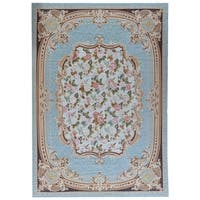 "Pasargad Aubusson Hand-Woven Wool Area Rug (10' 1"" X 14' 3"") - 10' x 14'"