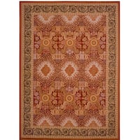 """Pasargad Multi Aubusson Hand-Woven Wool Rug (7' 9"""" X 10' 1"""")"""