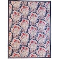 "Aubusson Multi Hand-Woven New Zealand Wool Area Rug (7'11"" X  9'11"")"