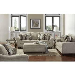 Sofatrendz Chima Platinum Sofa Loveseat 2 Pc Set