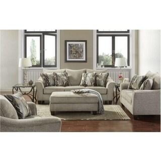 SofaTrendz Chima Platinum Sofa, Loveseat & Ottoman 3-pc Set