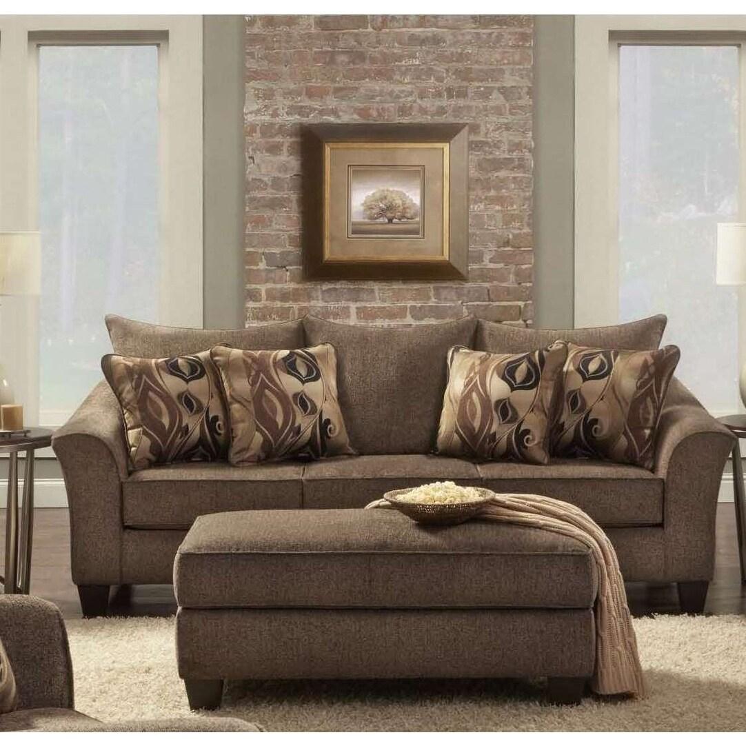 Prime Sofatrendz Cole Cafe Brown Sofa Ottoman 2 Pc Set Pabps2019 Chair Design Images Pabps2019Com