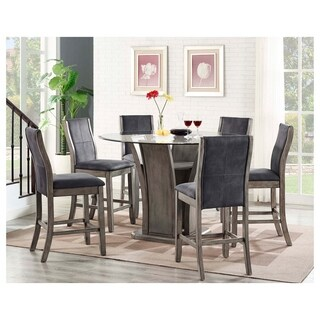 Picket House Furnishings Dylan Round Counter 7PC Dining Set-Table & 6 Side Chairs