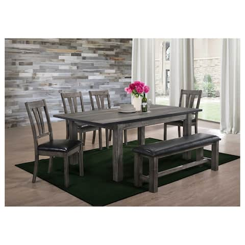 Picket House Furnishings Grayson Dining with Padded Seats 6PC Set