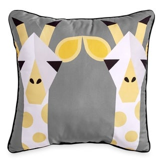 Scribble Giraffe 16-Inch Square Decorative Throw Pillow