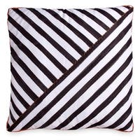 Scribble Striped 26-Inch Square Decorative Throw Pillow