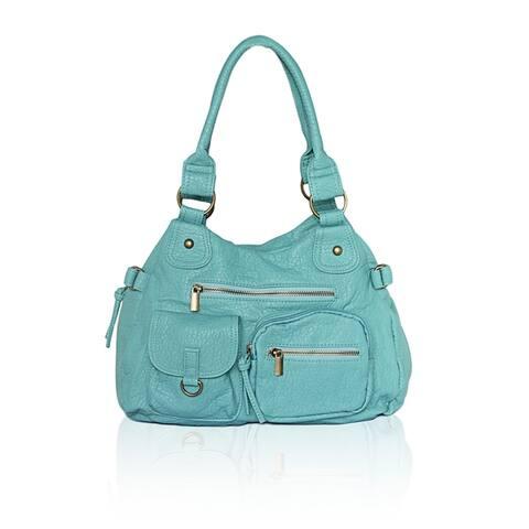 AFONiE Washable Soft Multi Pocket Shoulder Handbag