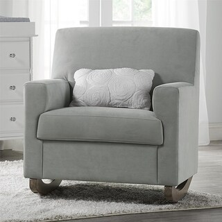 Little Seeds Rhoda Grey Upholstered Rocker