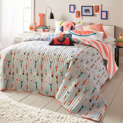 Scribble Reversible Swimmers Quilt
