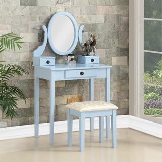 Link to Moniys Wood Moniya Makeup Vanity Table and Stool Set Similar Items in Bedroom Furniture
