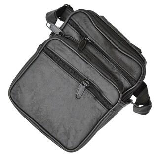 AFONiE Messanger Organizer Genuine Leather Crossbody Handbag