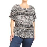 Women's Plus Size Mixed Paisley Top