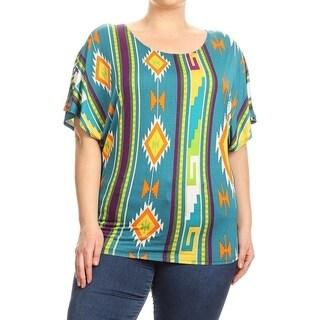 Women's Plus Size Tribal Pattern Tunic