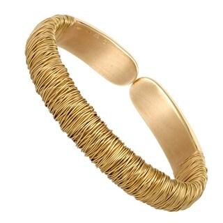 Pasquale Bruni Est Vita Womens Yellow Gold Open Bangle Bracelet