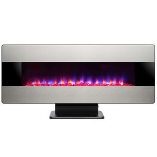 "Golden Vantage FP0073 48"" Freestanding Wall Mount Electric Fireplace 3D Flames Remote Crystals Heater"