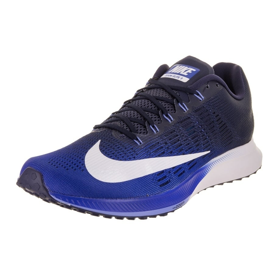 Nike Men's Air Zoom Elite 9 Running Shoe (10.5), Blue (Te...