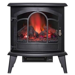 "Golden Vantage FP0085 20"" Freestanding Portable Electric Fireplace Black 3D Flames Remote Logs Heater"
