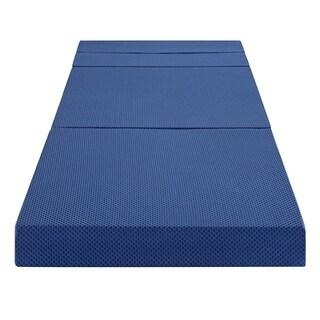 Sleeplanner 4-inch Tri-Fold Memory Foam Mattress Sofa Bed 04TM02X