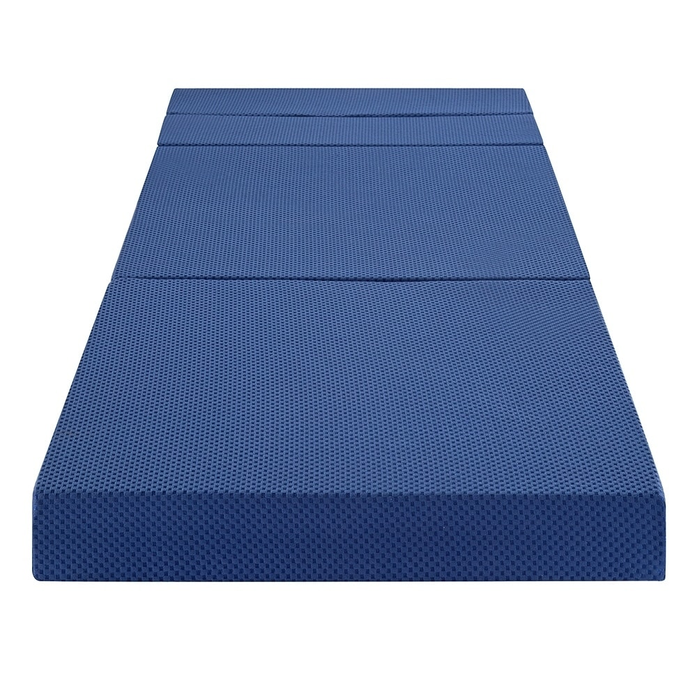 new products 5663e 9f79d Sleeplanner 4-inch Tri-Fold Memory Foam Mattress Sofa Bed 04TM02X