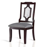 Sleeplanner White Solid Wood & 2''Memory Foam Seat Chair with Solid Marble, Dining chair, Side Chair, 42MC02S,Set of 2