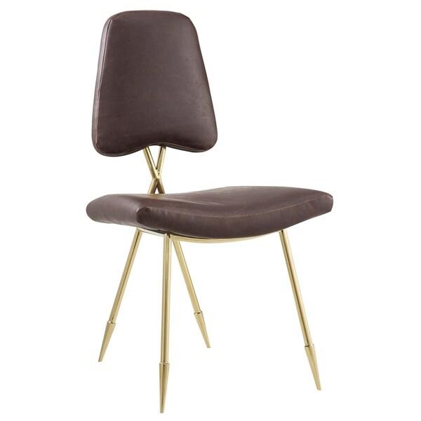 Shop Ponder Antique Faux Leather Accent Chair Free