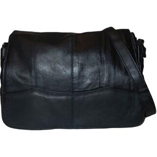 AFONiE Casual Leather Crossbody Handbag