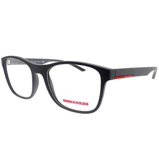 Prada Linea Rossa Rectangle PS 08GV UFK1O1 Unisex Grey Rubber Frame Eyeglasses