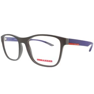 d900184617 Prada Linea Rossa Rectangle PS 08GV UR61O1 Unisex Brown Blue Rubber Frame  Eyeglasses