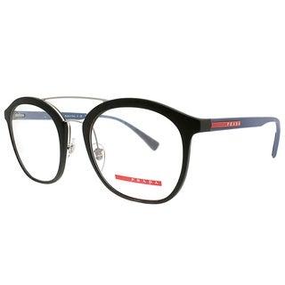 Prada Linea Rossa Square PS 02HV U6Y1O1 Unisex Green Rubber Frame Eyeglasses