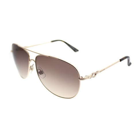 08c0b998411a Swarovski Aviator SK 0100 Finn 28F Woman Shiny Rose Gold Frame Brown  Gradient Lens Sunglasses