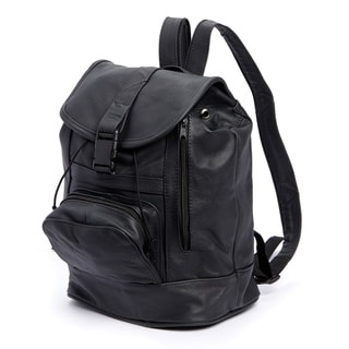 AFONiE with Convertible Strap Genuine Leather Backpack