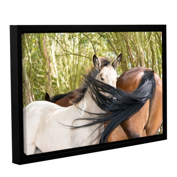 Andrew Lever's 'Affectionate Horses' Gallery Wrapped Floater-framed Canvas