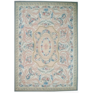 """Pasargad Aubusson Hand-Woven Wool Area Rug (8' 0"""" X 10' 2"""") - Multi - 8' x 10'"""