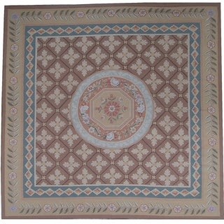 "Pasargad Aubusson Hand-Woven New Zealand Wool Rug (6' 0"" X  9' 1"") - 6' x 9'"