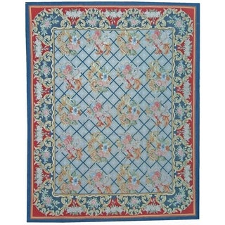 """Pasargad Aubusson Hand-Woven New Zealand Wool Rug (9' 0"""" X 12' 2"""") - Multi - 9' x 12'"""