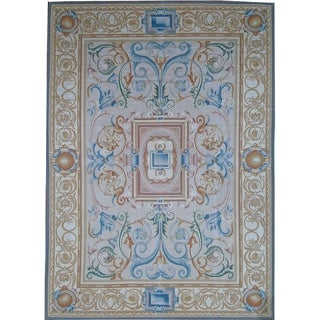 """Pasargad Aubusson Hand-Woven Multi Wool Rug (10' 3"""" X 14' 3"""") - 10' x 14'"""