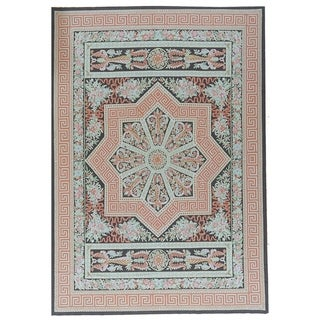 """Pasargad Aubusson Hand-Woven Multi Wool Area Rug (10'10"""" X 16' 1"""") - 11' x 16'"""