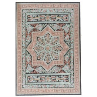 "Pasargad Aubusson Hand-Woven New Zealand Wool Rug (9' 9"" X 13'11"") - Multi - 10' x 14'"