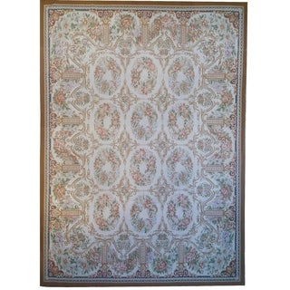 """Pasargad Aubusson Hand-Woven New Zealand Wool Rug (8'10"""" X 12' 3"""") - 9' x 12'"""
