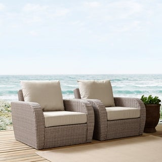 Crosley Furniture St. Augustine 2-piece Outdoor Wicker Seating Set