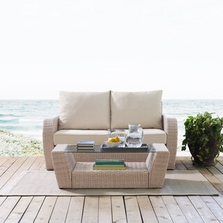 Crosley Furniture St. Augustine 2 Piece Outdoor Wicker Seating Set