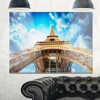 Beautiful view of Paris Eiffel Tower in Paris - Cityscape Glossy Metal Wall Art