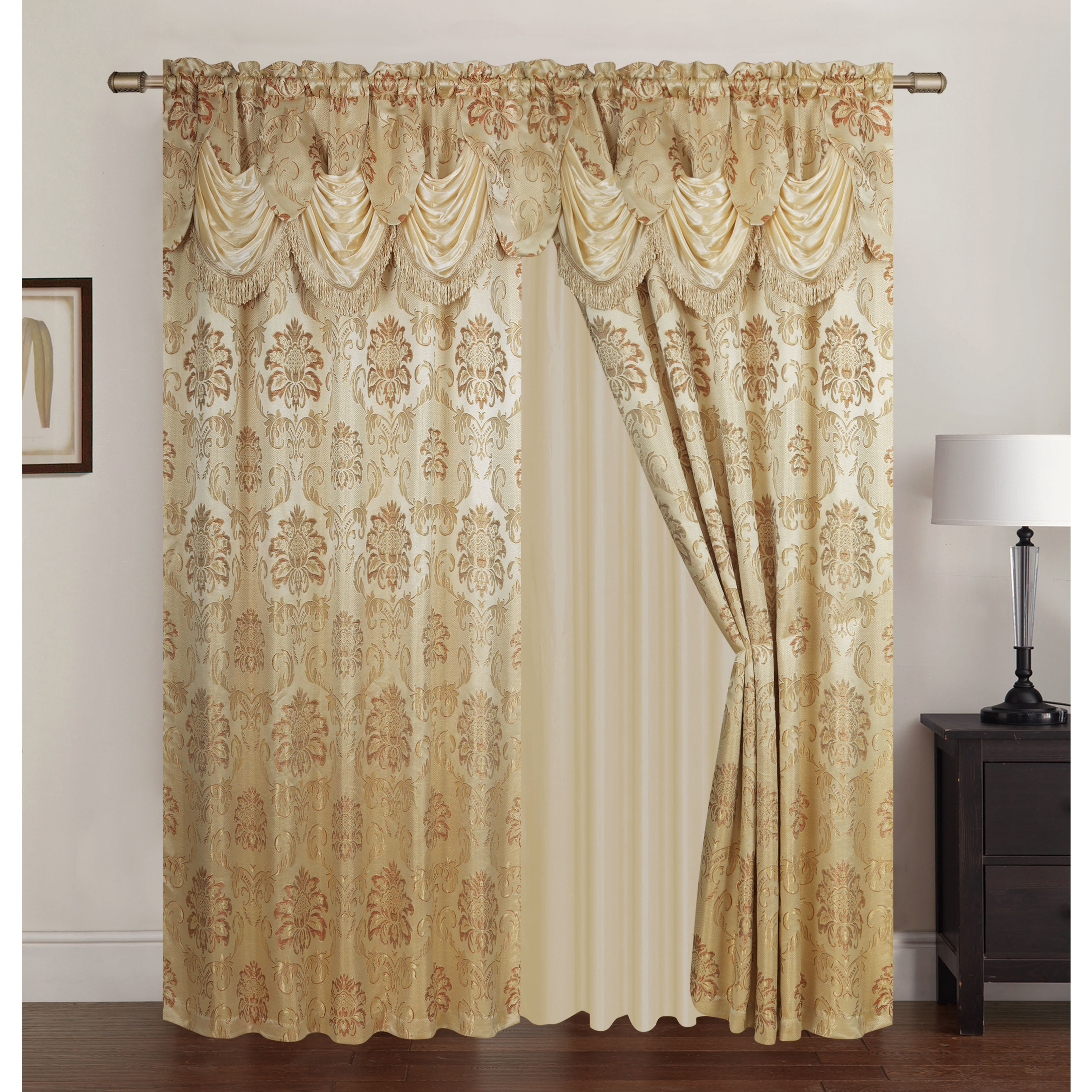 home lined curtains jardin panel free product curtain thermal x on inch rod orders over shipping garden overstock