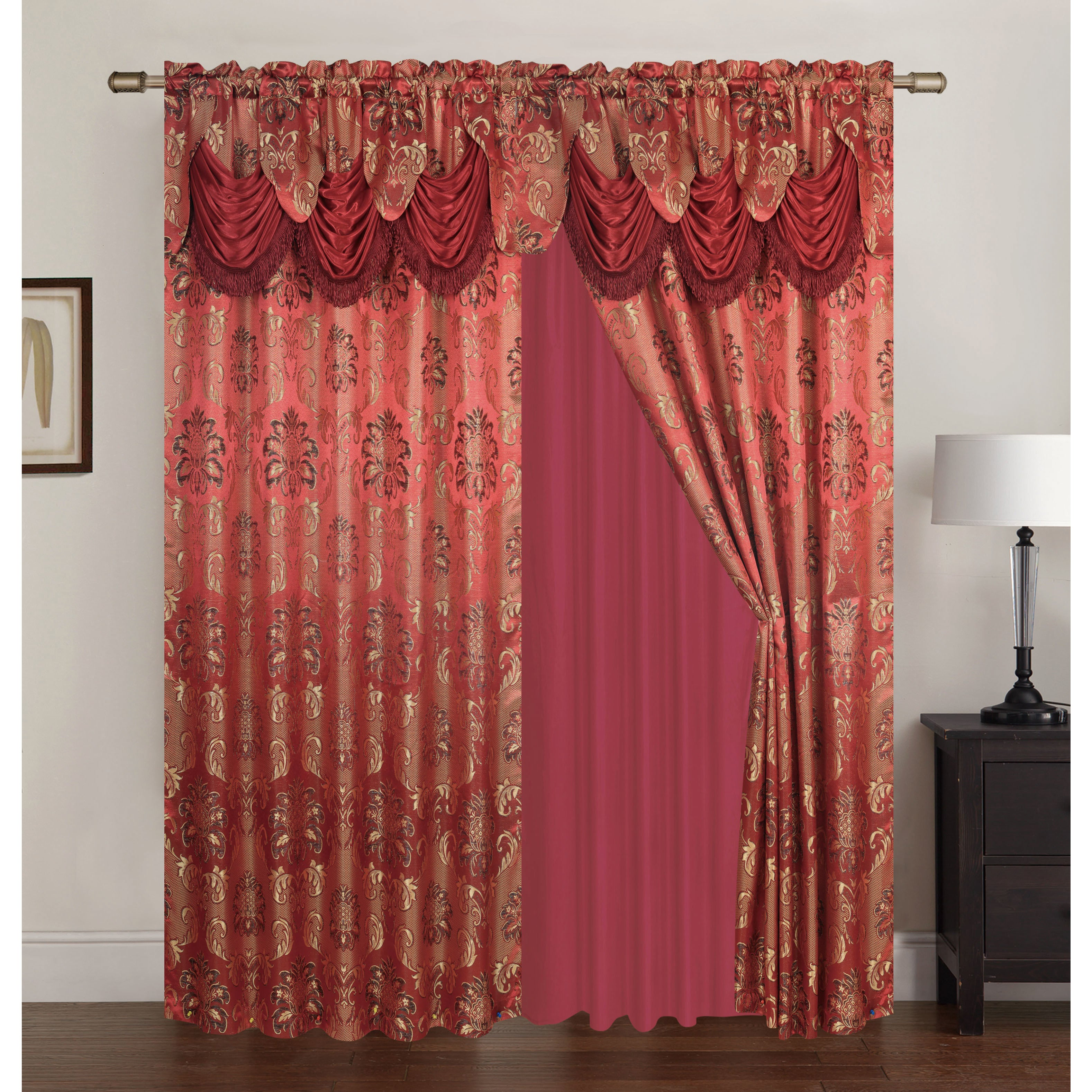curtain garden pipe home over blackout free instyledesign wraparound product diameter inch overstock modern rod shipping adjustable curtains steel on orders