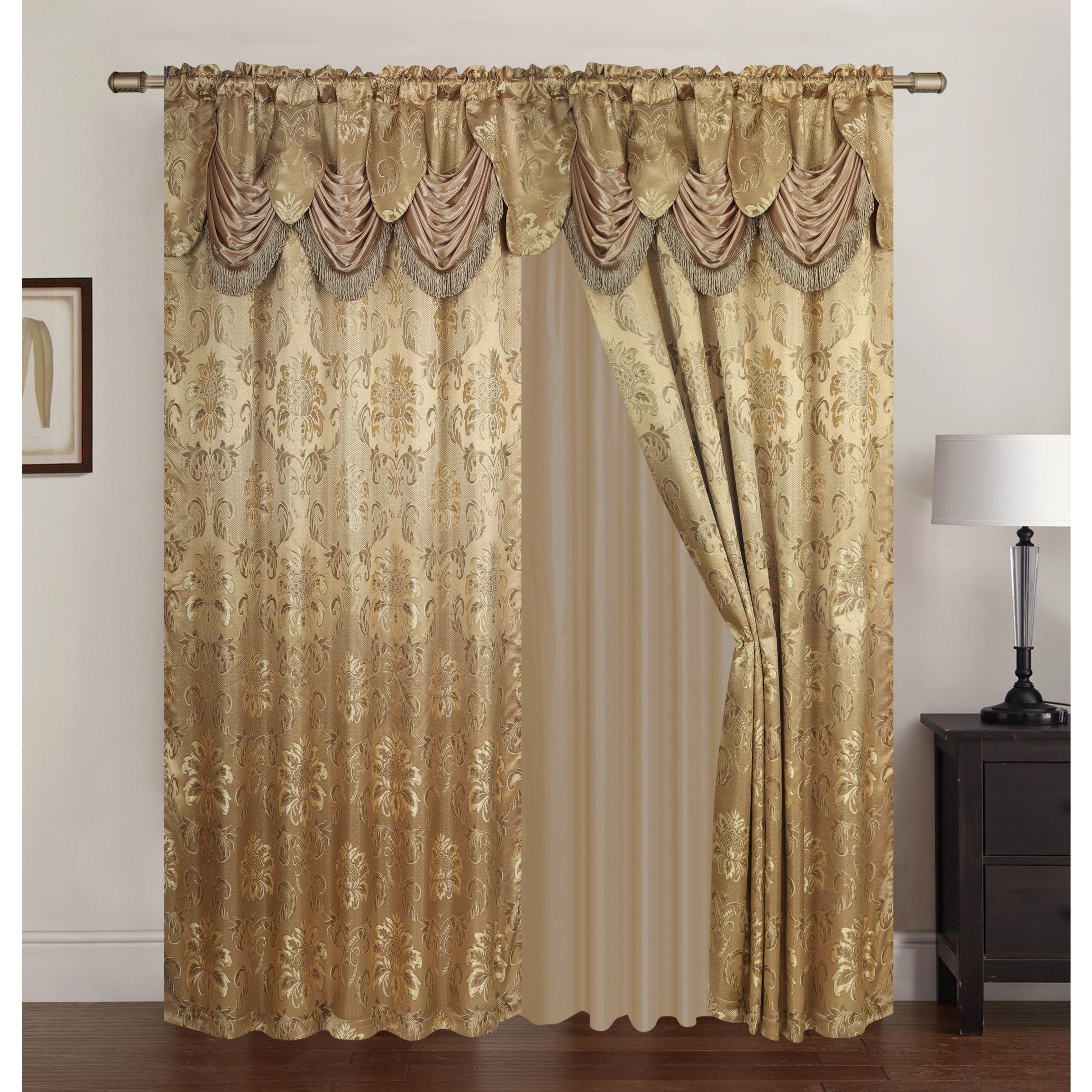 pocket walmart curtain pair jacquards accents valance rod com scroll tuscan stripe curtains ip window